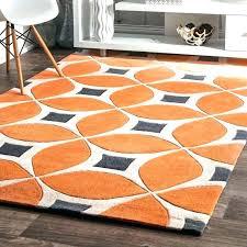 orange and white rug orange area rug with white swirls s s s s orange area rug with white