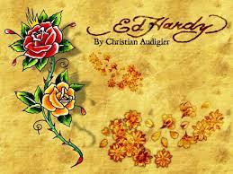 Ed Hardy Flower Design Ed Hardy Wallpaper Ed Hardy Rose Hd Wallpapers Ed