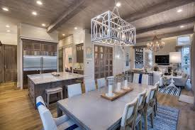 good looking 8 light rectangular chandelier contemporary dining room with high ceiling amp exposed beam