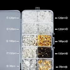 bolehdeals 1040 pcs mixed ear stud earrings back stopper earring safety backs earnuts diy craft jewelry