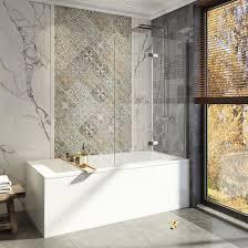 55 x36 bi fold bath tub shower door swing screen hinged frameless 1 4 glass