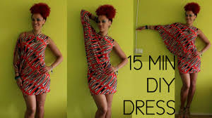 how to diy a first date dress in 15 min african print
