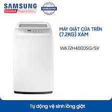 Shop bán Máy giặt cửa trên Lồng giặt kim cương Samsung WA72H4000SG/SV  (7.2kg) - Hàng phân phối chính hãng chỉ 3.390.000₫