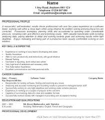 Manual Testing Resume Sample Software Testing Resume Format For