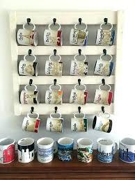 wall mug racks coffee holder for cup rack hanger diy