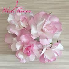 Paper Flower Wedding Decorations 72pcs 5cm Two Tone Color Artificial Big Scrapbooking Paper Flowers