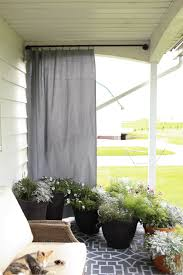 simple outdoor curtain rod and and curtain you can make by yourself in very little time
