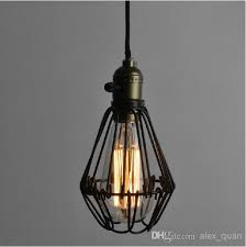 Vintage Wrought Iron Pendant Lighting Small Iron Cages Chandelier  Restaurant Kitchen Lighting Fixture Pl353 Ceiling Lamps Ceiling Lamp From  Alex_quan, ...