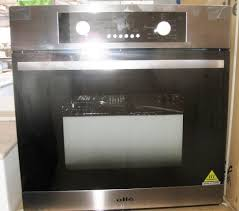 wall oven olle t8bc22 58 litre built in wall oven stainless steel fascia panel and handle electronic led programmer display grill cooling fan oven