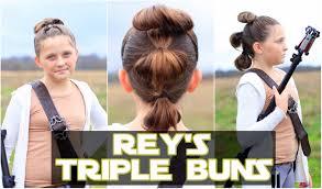 Rey Hair Style reys triple buns the force awakens star wars hairstyles youtube 6369 by stevesalt.us