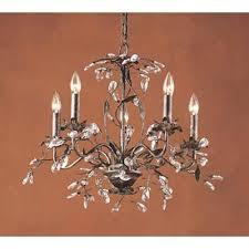 elk lighting circeo five light chandelier