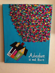 up disney art crafts paint ideas for canvas s adventure is out there acrylic by funtime324 home design 20
