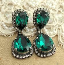 emerald chandelier earrings emerald statement earrings emerald bridal chandelier silver emerald earrings emerald swarovski earrings