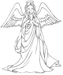 Fallen Angel Coloring Pages Angel Coloring Pages To Print Angels