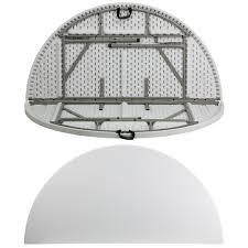 72 round bi fold granite white plastic folding table