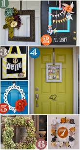 Front Door Decorating 36 Creative Front Door Decor Ideas Not A Wreath Home Stories A