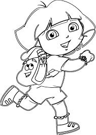 Dora The Explorer Coloring Pages 10 K In Moongateme