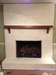 painted brick corner fireplace