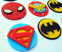 Super Hero Toppers Great Ideas Fondant Cupcake Toppers Fondant