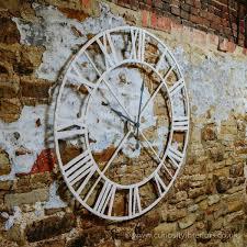 large white metal frame wall clock