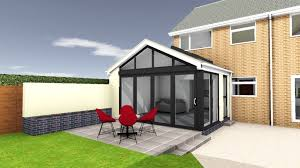 contemporary garden room aluminium windows