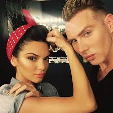 photo insram kendall jenner poses as rosie the riveter behind the scenes at rock the vote