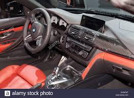 Interior design of BMW convertible car edition 2015 on display at ...