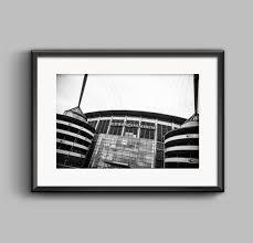 Etihad Stadium <b>Manchester City</b> / wall art / <b>black & white</b> art | Etsy ...