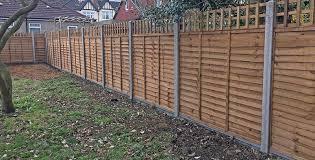 garden fencing. Wooden Garden Fencing Ideas, Overlap Panels