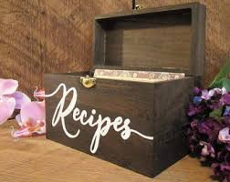 Decorative Recipe Box Mothers day gifts Etsy 56