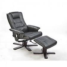 massage chair and footstool. pu leather massage chair recliner ottoman lounge remote and footstool