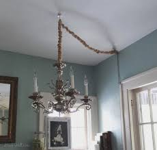image of how to hang a chandelier without wiring