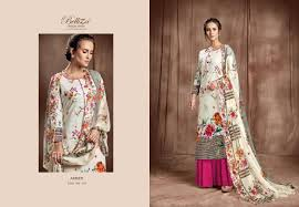Belliza Designer Studio Online Belliza Designer Studio Amber Designer Printed Cotton Suit