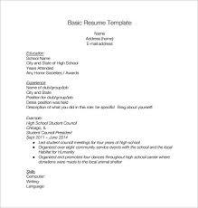 Free High School Resume Template Filename Kuramo News