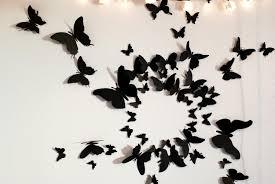 50 3D Butterfly Wall Art Circle Burst Intended For Butterflies 3D Wall Art  (Image 5