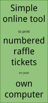 Print Raffle Tickets At Home Raffle Ticket Creator Print Numbered Raffle Tickets At Home