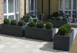 slate planters slate effect fibreglass modern garden trough planter