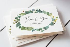 Wedding Thank You Notes Templates You Card Magdalene Project Org