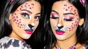 y pink leopard halloween makeup tutorial
