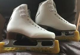 Graf Figure Skates Sizing Chart Details About Graf Bolero Ice Skates Size 35 Very Good Condition Missing Laces