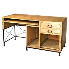 rustic office desks. Rustic Pine Computer Desk With Iron Accent Office Desks O
