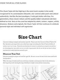 Chuck Taylor All Star Size Chart Converse Chuck Taylor All Star Hi Black Monochrome 19162 M3310c