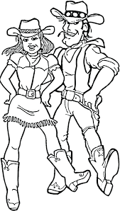 Cowgirl Coloring Pages 7 Pics Of Cowboy Vest Dancing And Western Hat