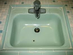how to fix a ed porcelain sink chipped and rusty porcelain bathroom sink or replace porcelain
