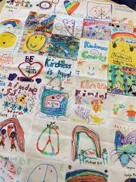 Wellness Education / Kindness Quilt & Students at Hillside School worked diligently on creating squares that were  going to become a piece of the puzzle in our Kindness Quilt. Adamdwight.com