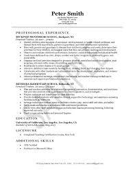 example of resume format for teacher Free Homeroom Teacher Resume     Pinterest