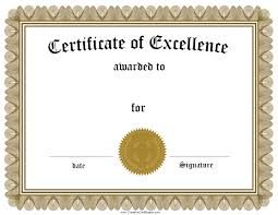 Certificate Of Excellence Template Free Free Blank Certificate Of Excellence Template Valid Free 1