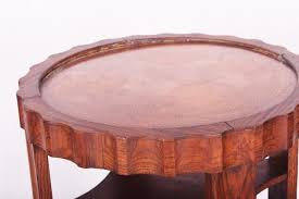 copper round coffee table 1920s