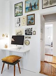 mini home office. Mini Home Office. Use A Floating Shelf To Save Space For Small Office