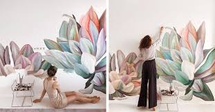 <b>Beautiful Flower</b> Mural <b>Art</b> Makes Ordinary Rooms Bloom with ...